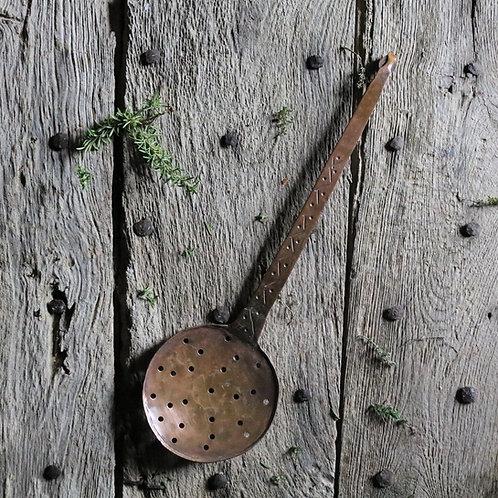 Hand-beaten Niave Copper Skimmer