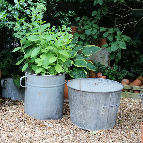 Large Galvanised Planters