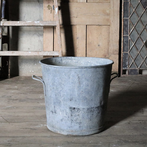 Large Galvanised Bucket Planter