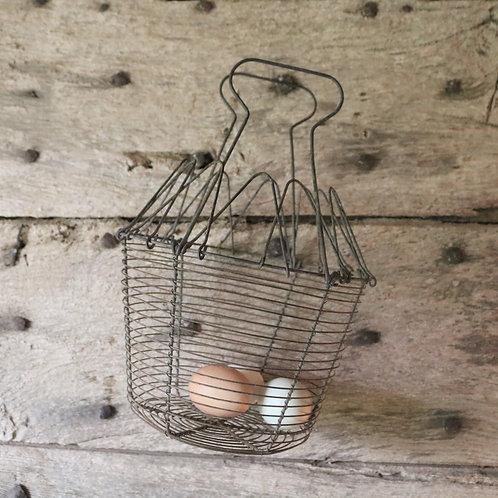 Vintage Salad Egg Wirework Basket
