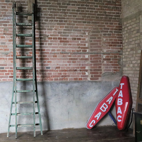 Extra Large Green Vintage Ladders