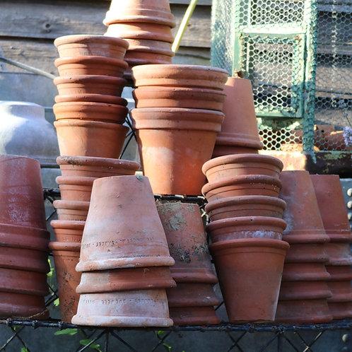 Vintage Terracotta Pots Machine Pressed