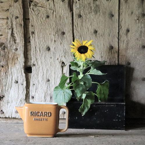 French Vintage Rectangular Ricard Jug