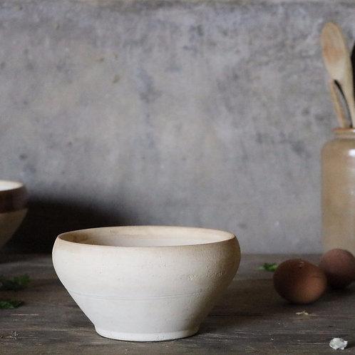 Natural Creamy French Vintage Stoneware Bowl