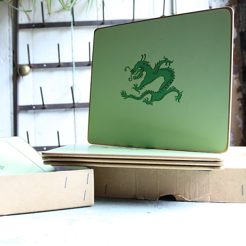 Vintage Green Dragon Placemats Set of 6