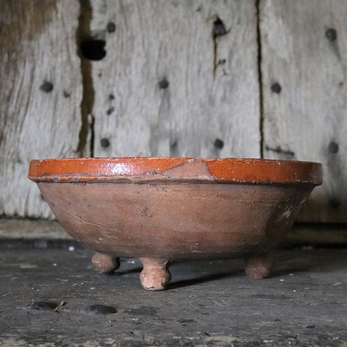 Antique Hand-thrown French Rustic Terracotta Colander Strainer