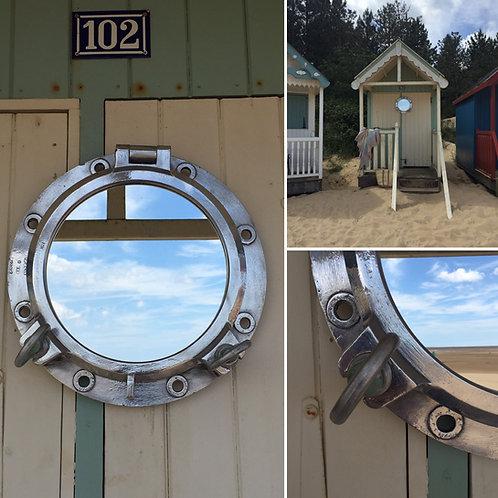 Original  Large Aluminium Porthole Mirror