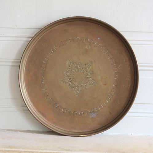 Vintage Brass Decorative Tray