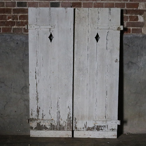 Reclaimed French Painted Shutters