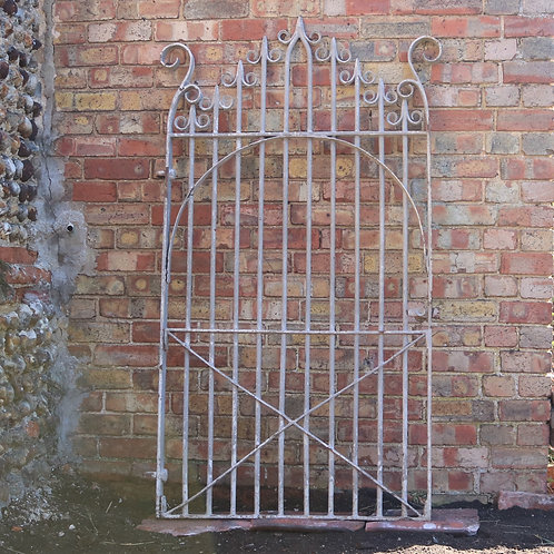 Original Tall Victorian Hand Forged Iron Gate