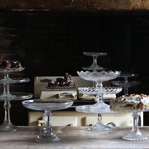 Glass Cake Stand Tall 205mm