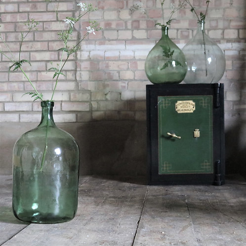 Tall Green Vintage Glass Carboy