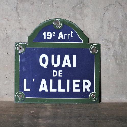 Original Vintage Parisian Enamel Street Sign
