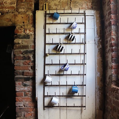 Wall Mounted French Vintage Metal Bottle Drying Rack