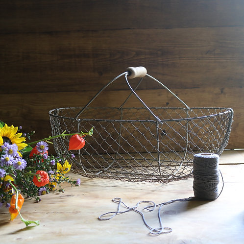 Large French vintage Wire  Basket