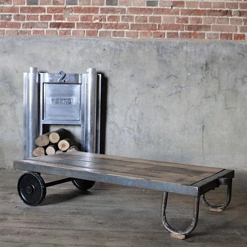 Salvaged Industrial Trolley Reclaimed Oak Coffee Table