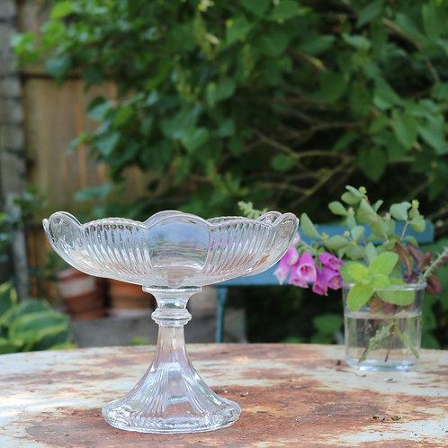 Vintage Glass Fruit Compote - large