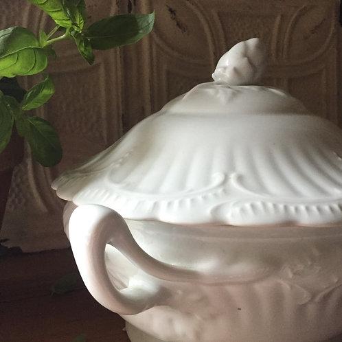 Limoges White Porcelain Tureen