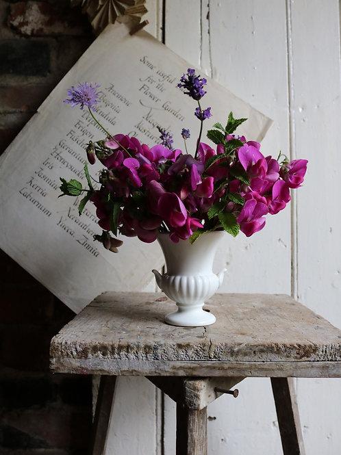 Small Urn Vase White
