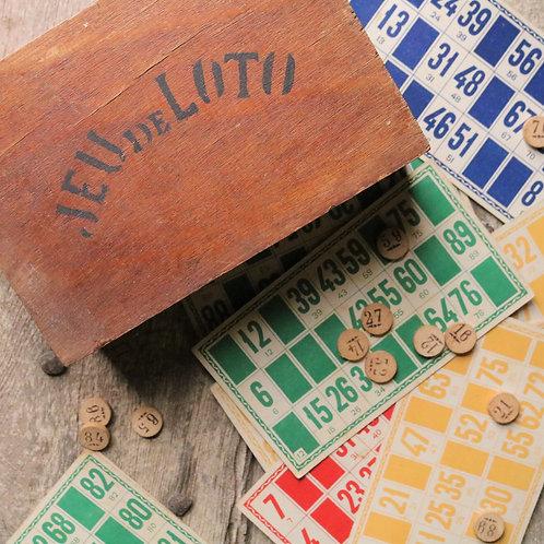 Vintage Lotto Bingo Game
