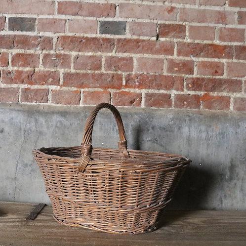 Pale Vintage Wicker Basket