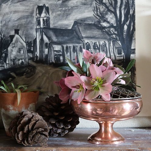 Vintage Copper Rose Bowl