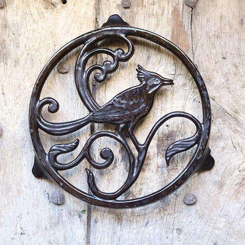French Bird Trivet - Black