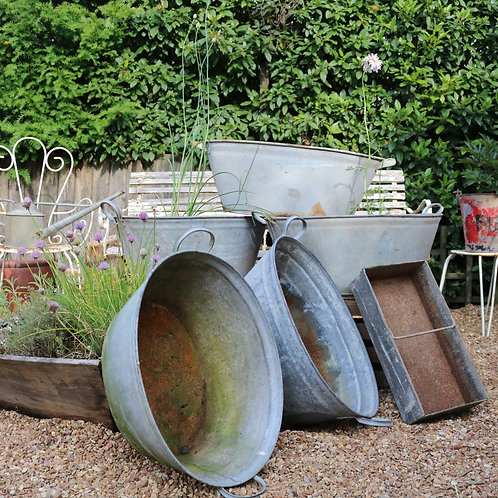 Galvanised Zinc Planters Baths