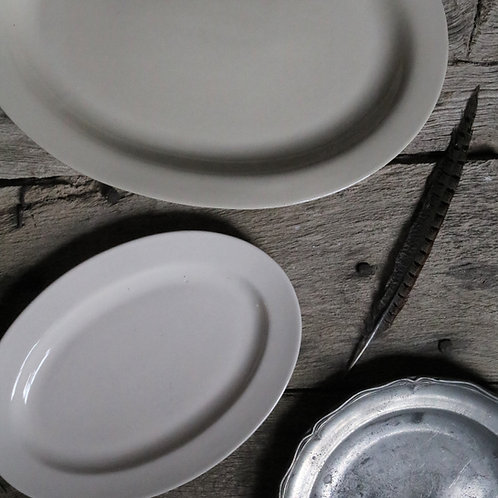 Medium French Vintage Oval Platter