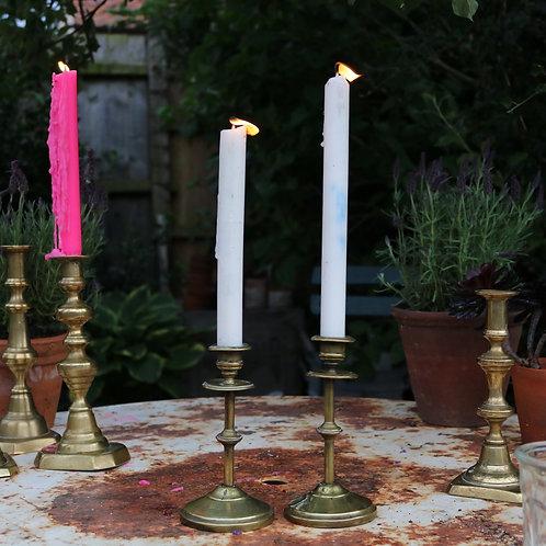 Vintage Brass Candlesticks - Pair