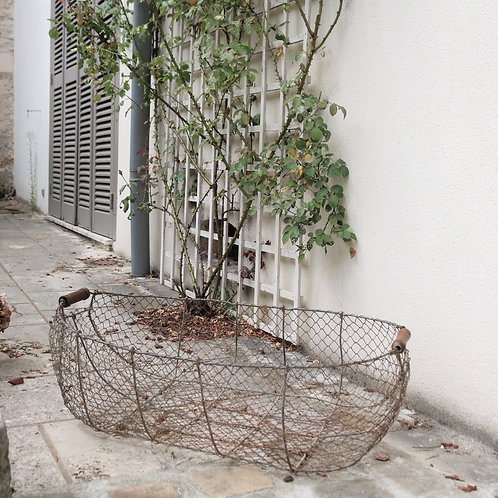 Extra Extra Large French Vintage Wire Basket