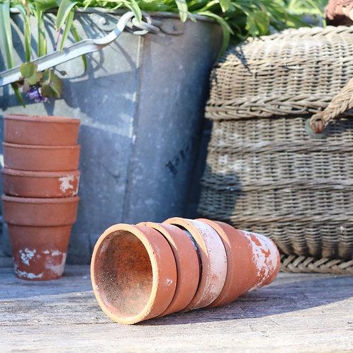 """Vintage Machined Plant Pots 2.75"""" - 3"""