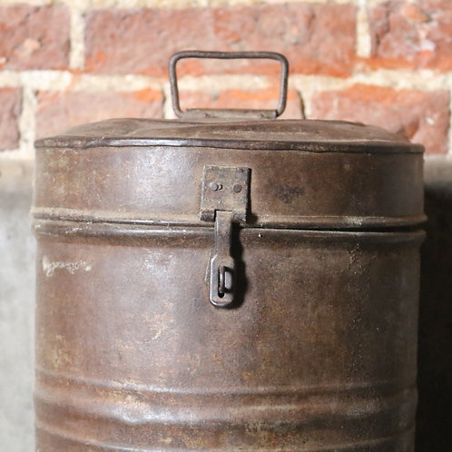 Tall Metal Indian Canister