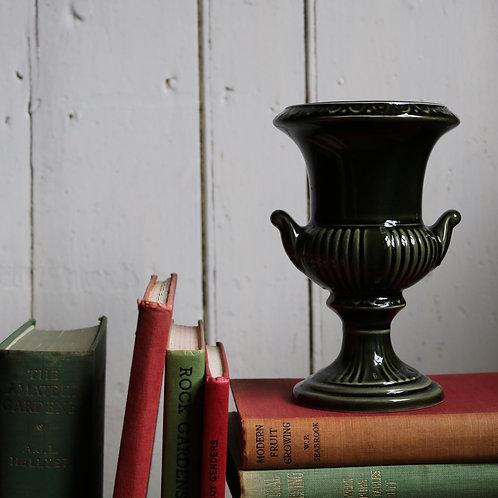 Green Vintage Flower Urn Vase