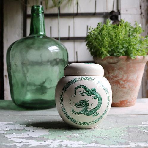 Sadler Green Dragon Ginger Jar