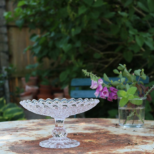 Vintage Glass Fruit Compote