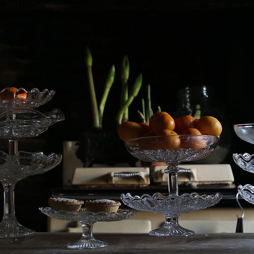 Glass Cake Stand 175mm  A