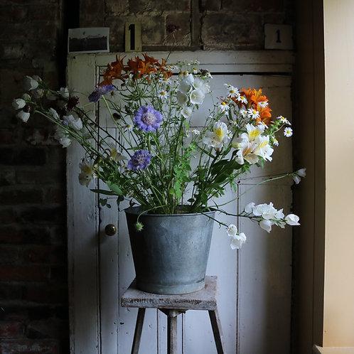 Galvanised Zinc Flower Buckets