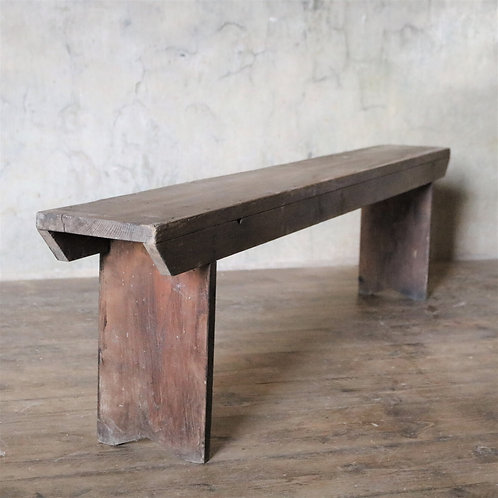 French Rustic Wooden Bench