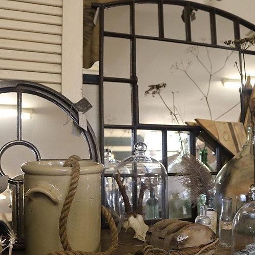 Cast iron C19th window mirror