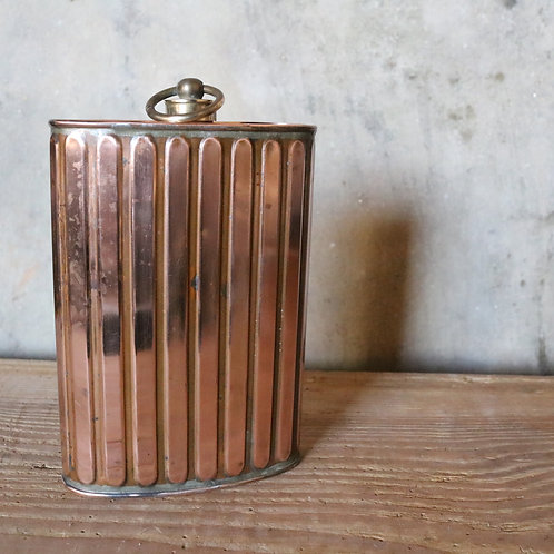 Ribbed Copper Flask