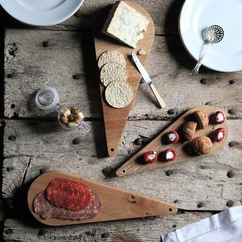 Oak Teardrop Platter Boards