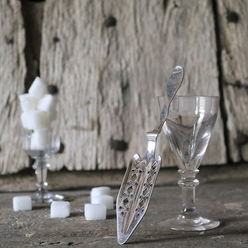Silver Plated French Vintage Absinthe Spoons Barware Cafeware