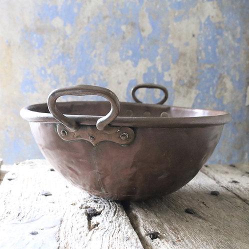 Copper Antique French Cul de Poule Bowl