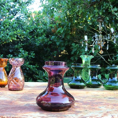 Antique Hyacinth  Vases Amethyst