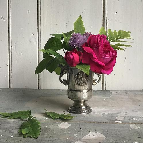 Silver Plated Urn Vase Vintage