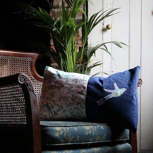Bird Appliqué Cushion