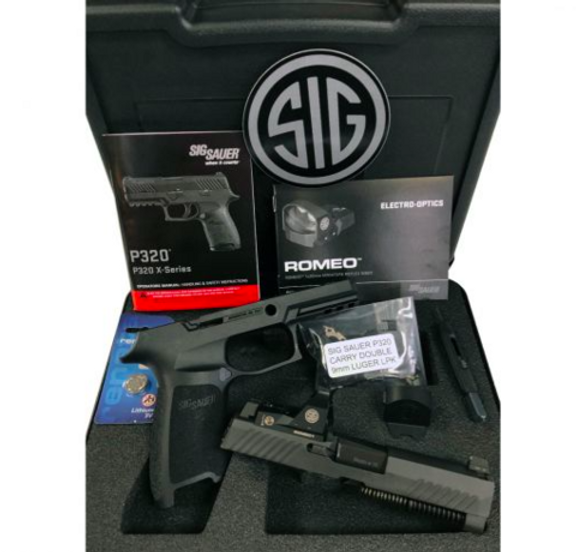 80% SIG SAUER P320 X-SERIES CARRY DOUBLE 9MM WITH ROMEO RED DOT   Urban  Survival Arms