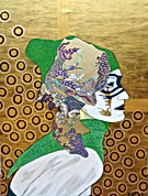 painting woman gold