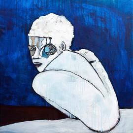 Kameleon acrylic on canvas 95 x 95 cm 2009